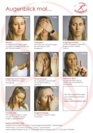 Augentraining Übungen Plakat